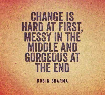 change is gorgeous at the end
